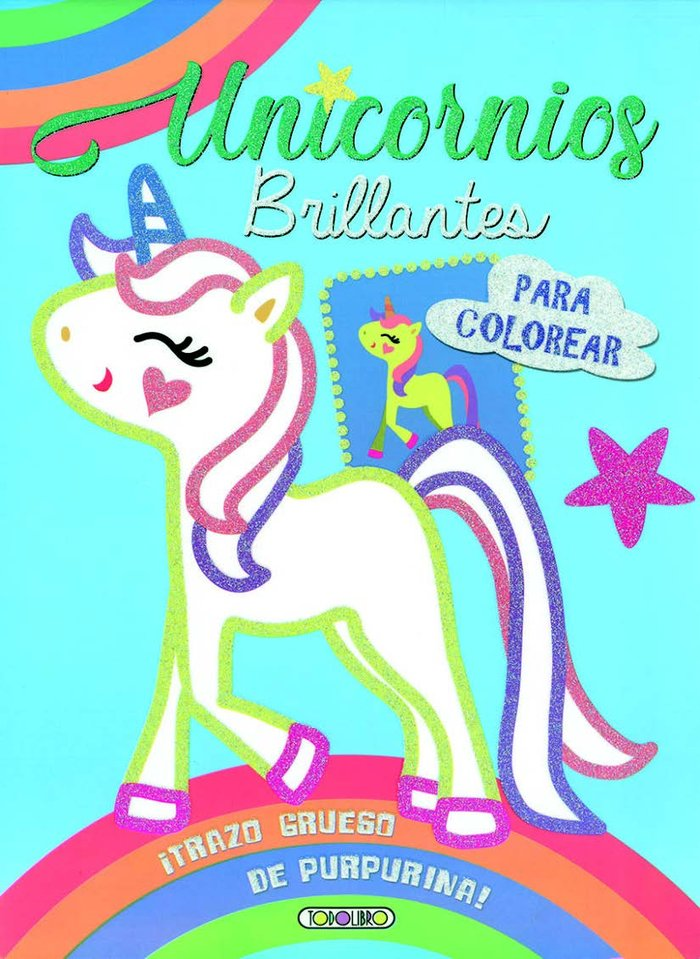 Unicornios brillantes colores 2