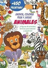 Monta colorea pega y juega animales