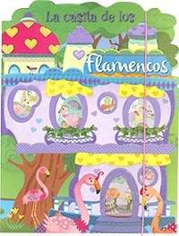 La casita de los flamencos azul