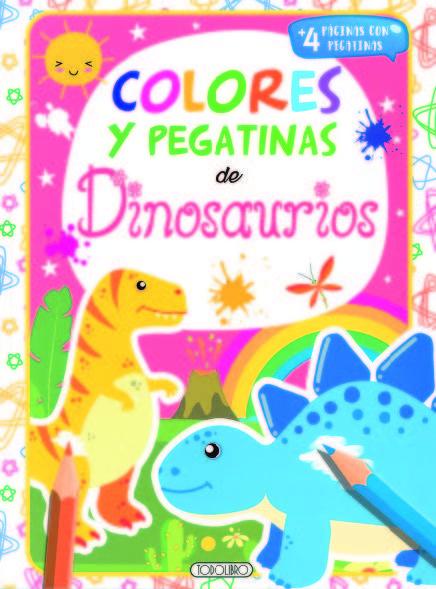 Dinosaurios 1 colores y pegatinas