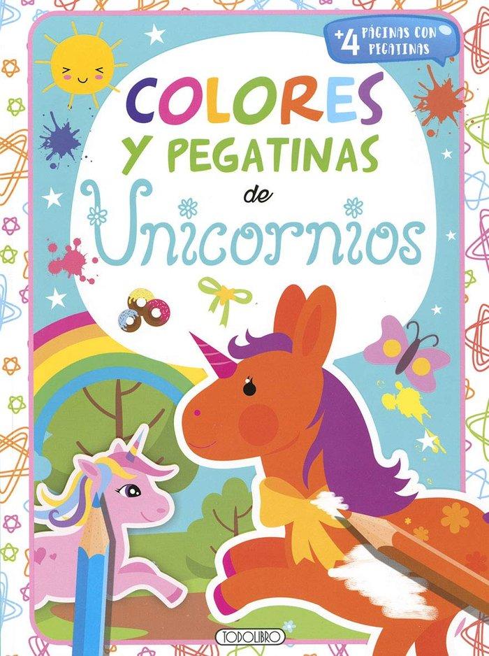 Unicornios 3 colores y pegatinas