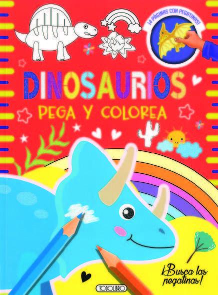 Dinosaurios 1 pega y colorea