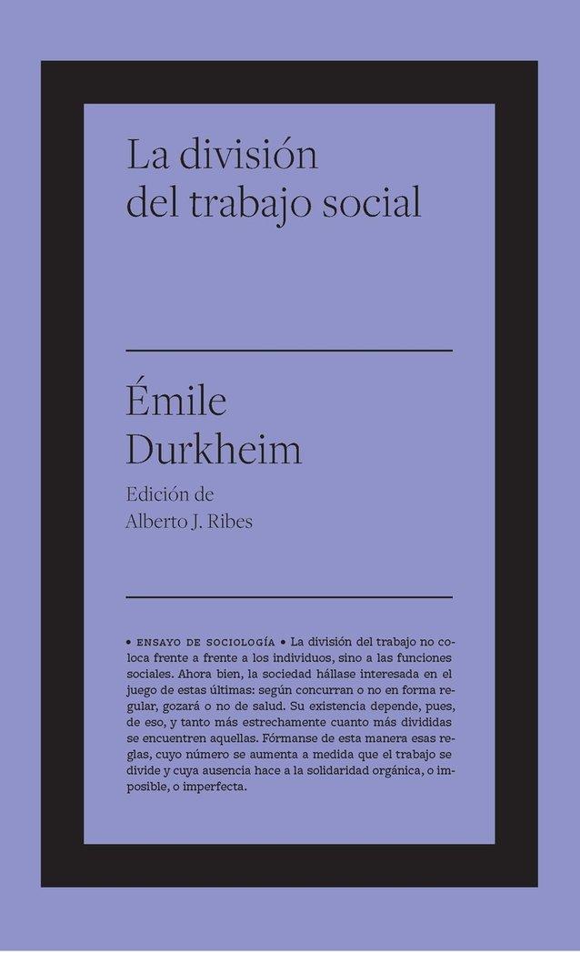 Division del trabajo social,la
