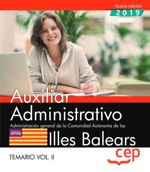 Auxiliar administrativo administracion illes balears tem 2