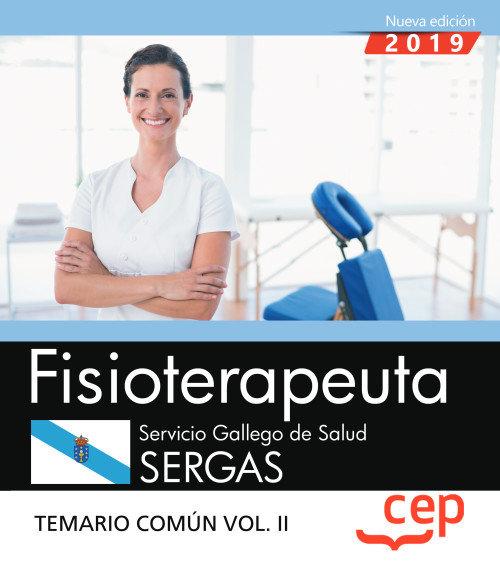 Fisioterapeuta servicio gallego salud sergas temario 2