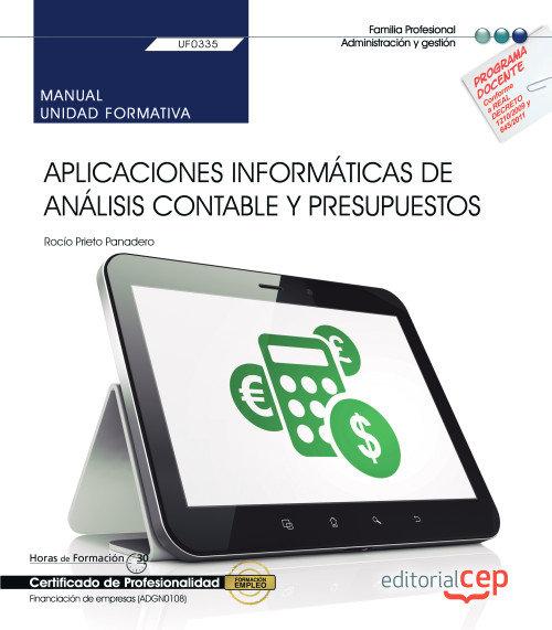 Manual aplicaciones informaticas analisis contable y presup