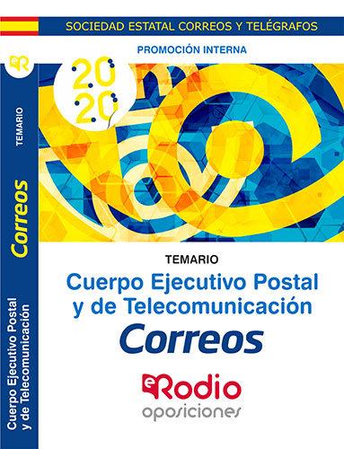 Cuerpo ejecutivo postal y telecomunicacion temario promocio