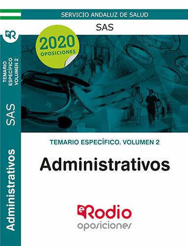 Administrativos sas temario especifico volumen 2
