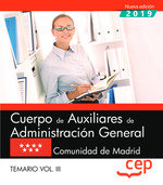 Cuerpo auxiliar administracion general madrid vol 3