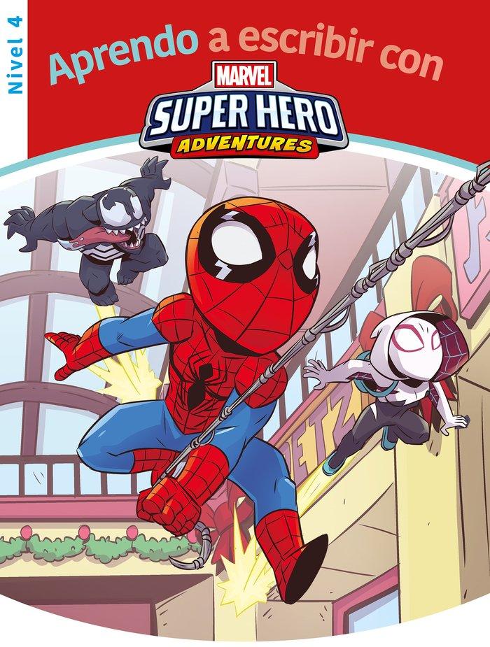 Aprendo a escribir con los superheroes marvel - nivel 4 (apr