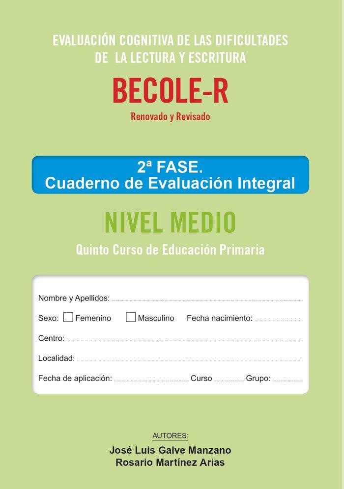 Becole r cuaderno de evaluacion integral