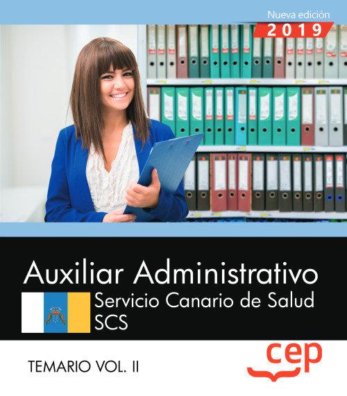 Auxiliar administrativo servicio canario salud scs vol 2