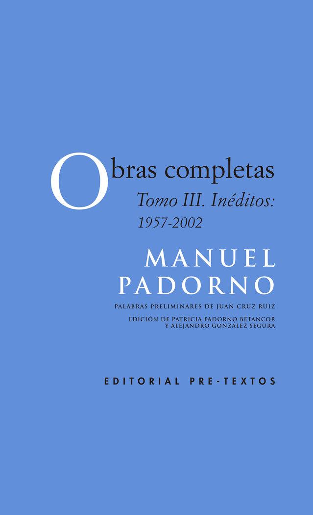 Obras completas iii ineditos 1957-2002