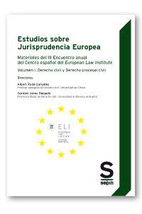 Estudios sobre jurisprudencia europea