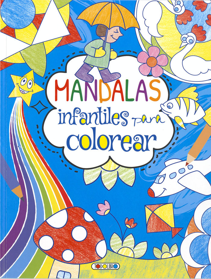 Mandalas infantiles para colorear 1