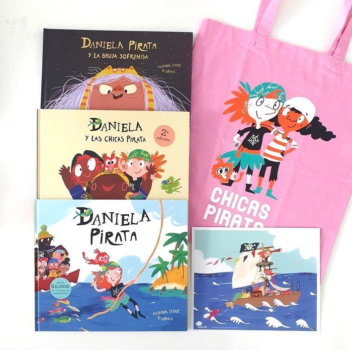 Bolsa de tela chicas pirata rosa