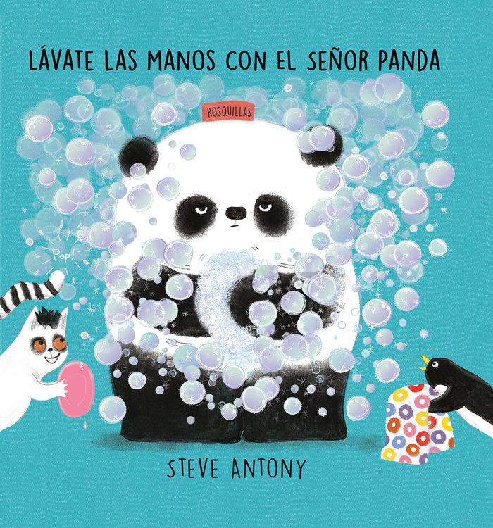 Lavate las manos con el señor panda