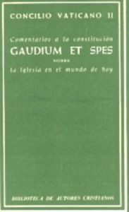 Comentarios a la constitucion gaudium et spes. sobre la igle
