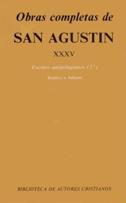 Obras completas de san agustin. xxxv: escritos antipelagiano