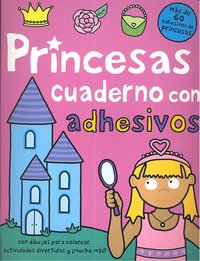 Princesas cuaderno con adhesivos