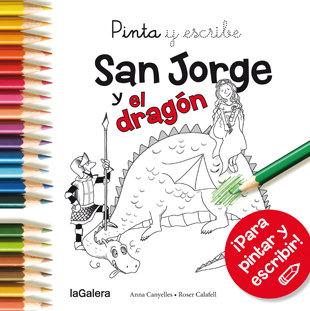 Pinta y escribe san jorge y el dragon