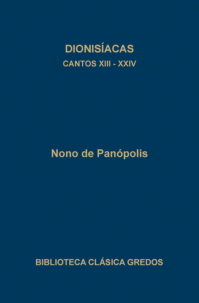 Dionisiacas cantos xiii-xxiv tela bcg