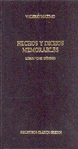 Hechos y dichos memorables libros vii-ix epitomes