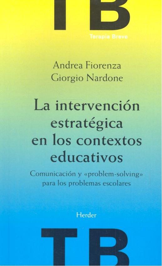 Intervencion estrategica contextos educativos