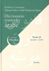 Dic.avanzado arabe-español tomo ii 2ªed.