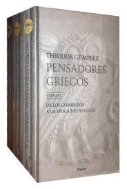 Pensadores griegos 3 vol. rtca