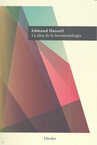 Idea de la fenomenologia,la