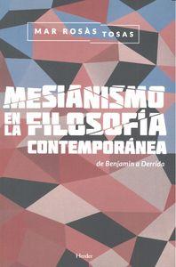 Mesianismo en la filosofia contemporanea