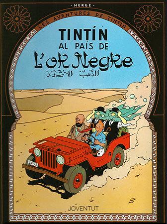 Tintin al pais de l'or negre
