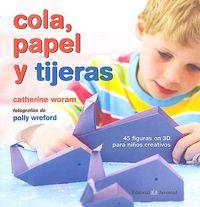 Cola papel y tijeras