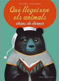 Que llegeixen els animals abans de dormir