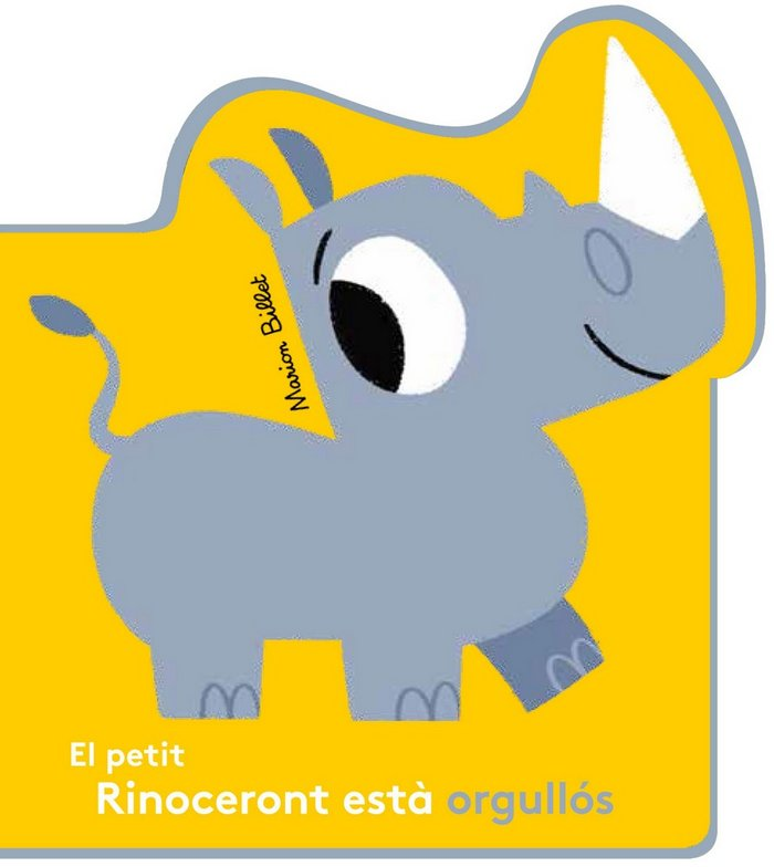Petit rinoceront esta orgullos,el