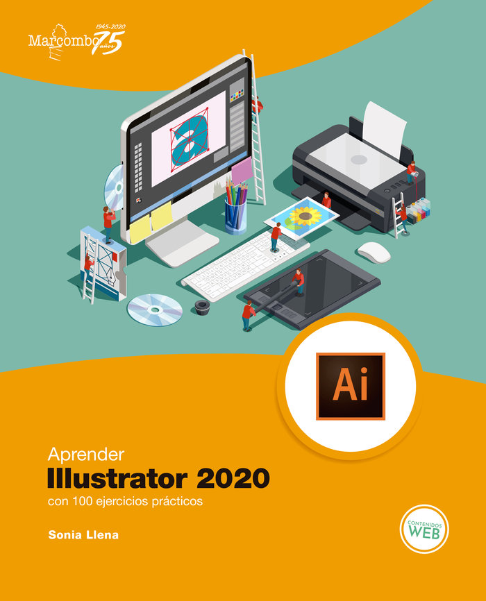 Aprender illustrator 2020 con 100 ejercicios practicos