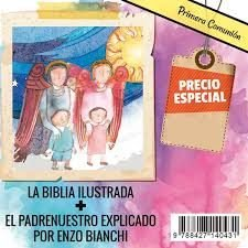 Lote comunion 2 (biblia ilustrada + padrenuestro explicado
