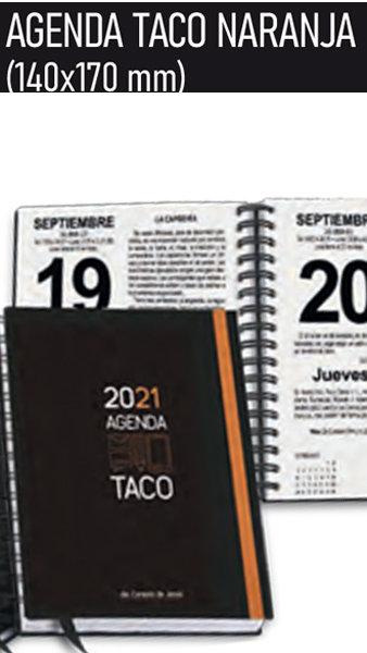 Agenda taco 2021 naranja