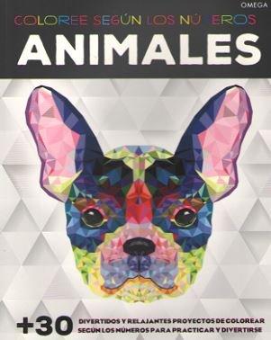 Animales colorees segun los numeros