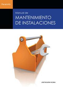 Manual mantenimiento instalaciones
