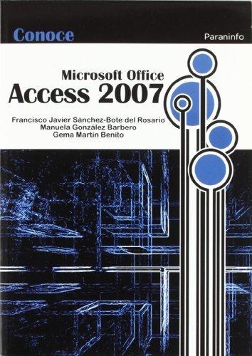 Conoce access 2007