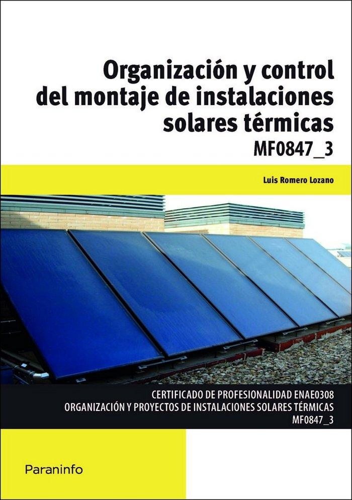 Organizacion y control del montaje de instalaciones solares