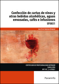 Confeccion de cartas de vinos y otras bebidas alcoholicas