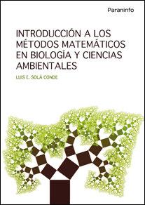 Introduccion a los metodos matematicos en biologia y cienci