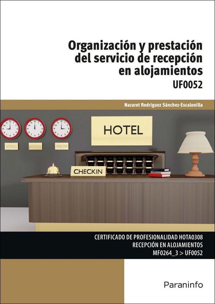 Organizacion y prestacion servicio de recepcion en alojamie
