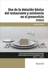 Uso de la dotacion basica del restaurante y asistencia en e