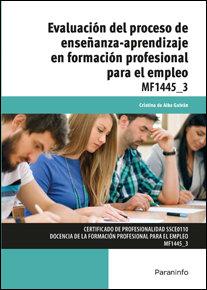 Evaluacion del proceso de enseñanza aprendizaje para empleo