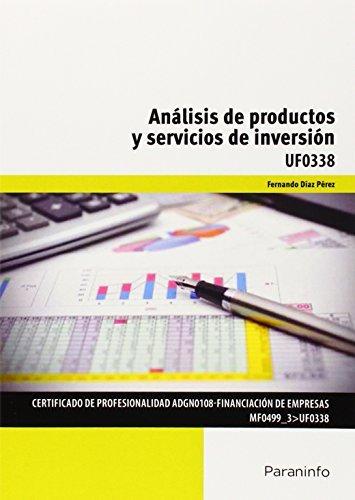 Analisis de productos y servicios de inversion
