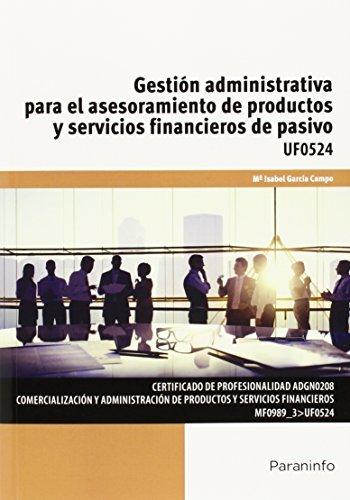 Gestion administrativa asesoramiento productos servicios fi